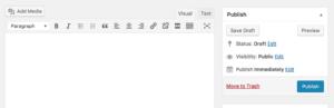 Classique editor rétabli l'éditeur de pages WordPress par défaut